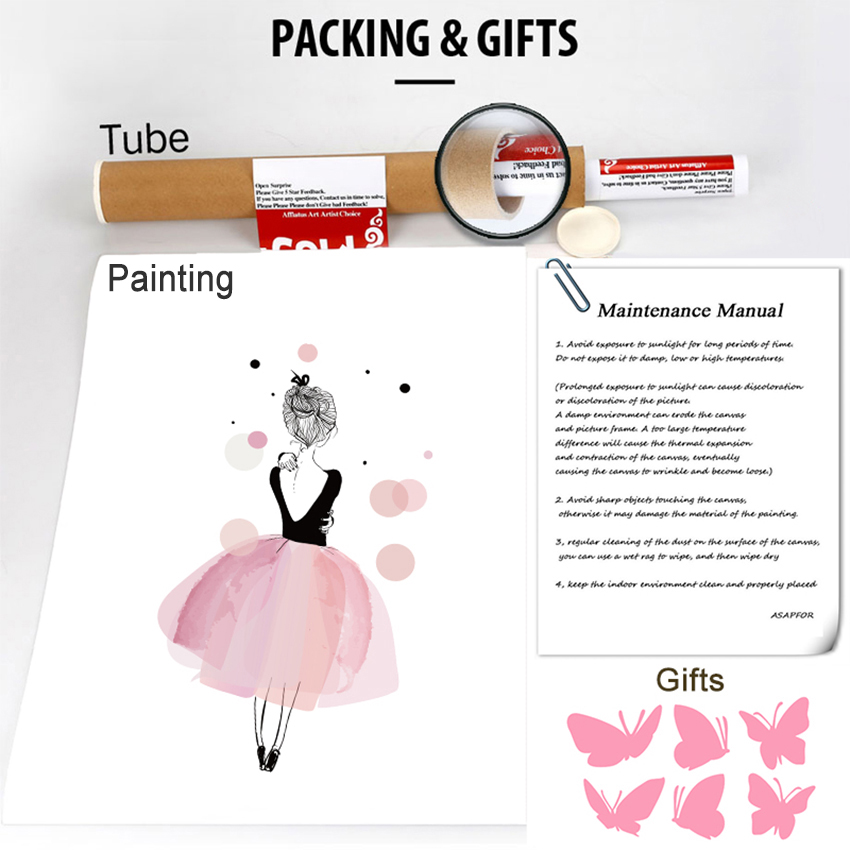850 Canvas Art Paintings method of packing