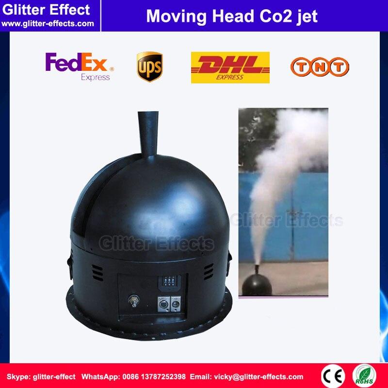 Caisse mobile de vol de jet de Co2 de tête d'étape de DJ incluse théâtre de Disco oscillant la machine superbe de brouillard de jet de grande colonne