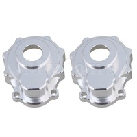 Mxfans Silver Upgrade Knuckle Arm Inner Case Steering Knuckle Portal Cover For TRAXXAS TRX 4 RC1