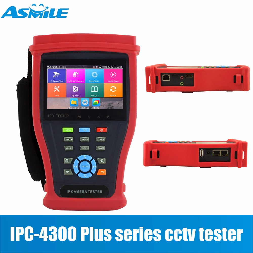 4.3 IPS IPC-4300 Plus series touch screen 4K H.265 all kinds of CCTV Cameras Tester Dome camera, 4K H.265 IP camera
