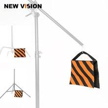 Orange Heavy Duty Sand Bag Photography Studio Video Stage Film Sandbag Saddlebag for Light Stands Boom Arms Tripods
