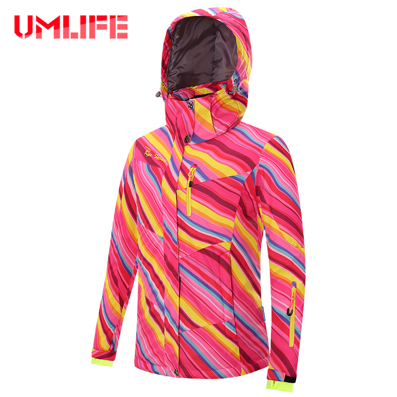 Umlife Snowboard Ski Jackets Women Winter Thermal Warm Waterproof Windproof Outdoor Skiing Hiking Snow Jacket Female 2017 outdoor 3in1 ski jacket women waterproof winter warm fleece snow jacket thermal coat female sports skiing snowboard jackets