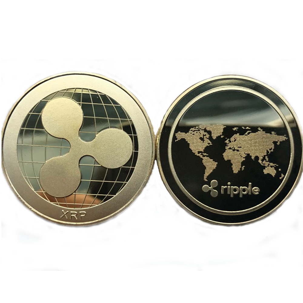 Gold & Silver Plated Bitcoin/Litecoin/Ripple/Ethereum 4