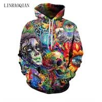 Paint Skull 3D Printed Hoodies Men Women Sweatshirts Hooded Pullover Brand 3xl Qaulity Tracksuits Boy Coats