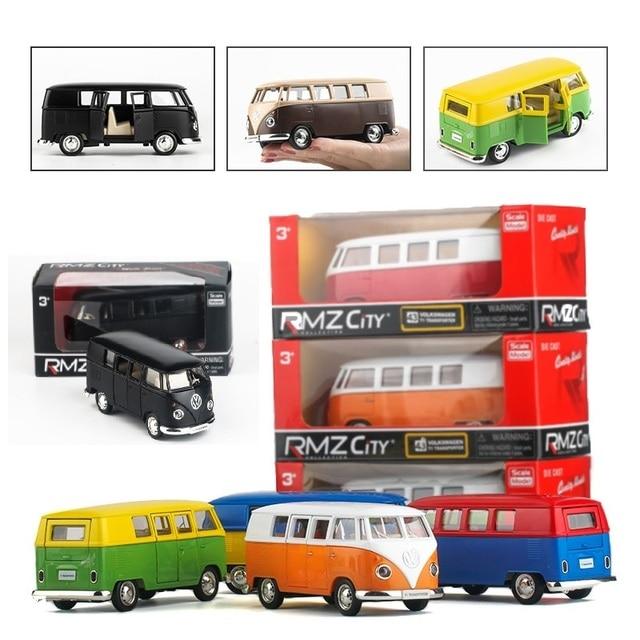 Коробках пять-дюймовые легкосплавные модель автомобиля Volkswagen T1 автобус Матовая матовая Открыть дверь обратно к власти kids toys