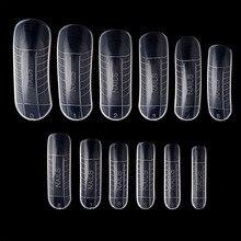 120 шт быстрое строительство пресс-формы Типсы для ногтей двойная форма для наращивания пальцев Дизайн ногтей УФ строительный полигелевый инструмент