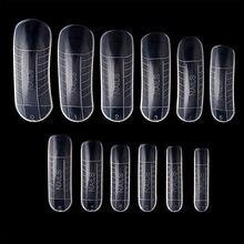 120 pçs molde de construção rápida dicas prego formas duplas extensão do dedo unha arte uv construtor poli prego gel ferramenta