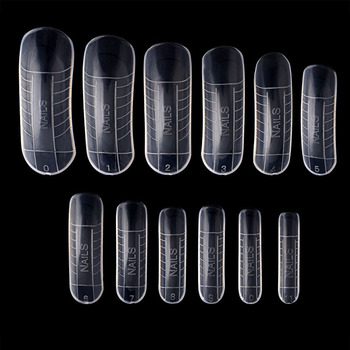 120 Pcs Quick Building Mold Tips Nail Dual Forms Finger Extension Nail Art UV Builder Poly Gel Tool False Nails