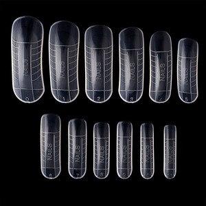 Image 1 - 120 Pcs מהיר בניין עובש טיפים נייל טפסים כפול אצבע הארכת נייל ארט UV Builder פולי ג ל כלי
