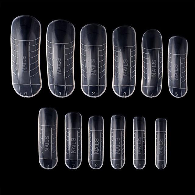 120 Pcs מהיר בניין עובש טיפים נייל טפסים כפול אצבע הארכת נייל ארט UV Builder פולי ג 'ל כלי