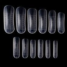 120 pièces rapide construction moule conseils ongles double formes doigt Extension Nail Art UV constructeur Poly Gel outil
