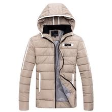 2016 мужчин новые продукты Высокого качества тонкий теплая зима с капюшоном хлопка-мягкие одежды/Мужской досуг сплошной цвет хлопок пальто куртки