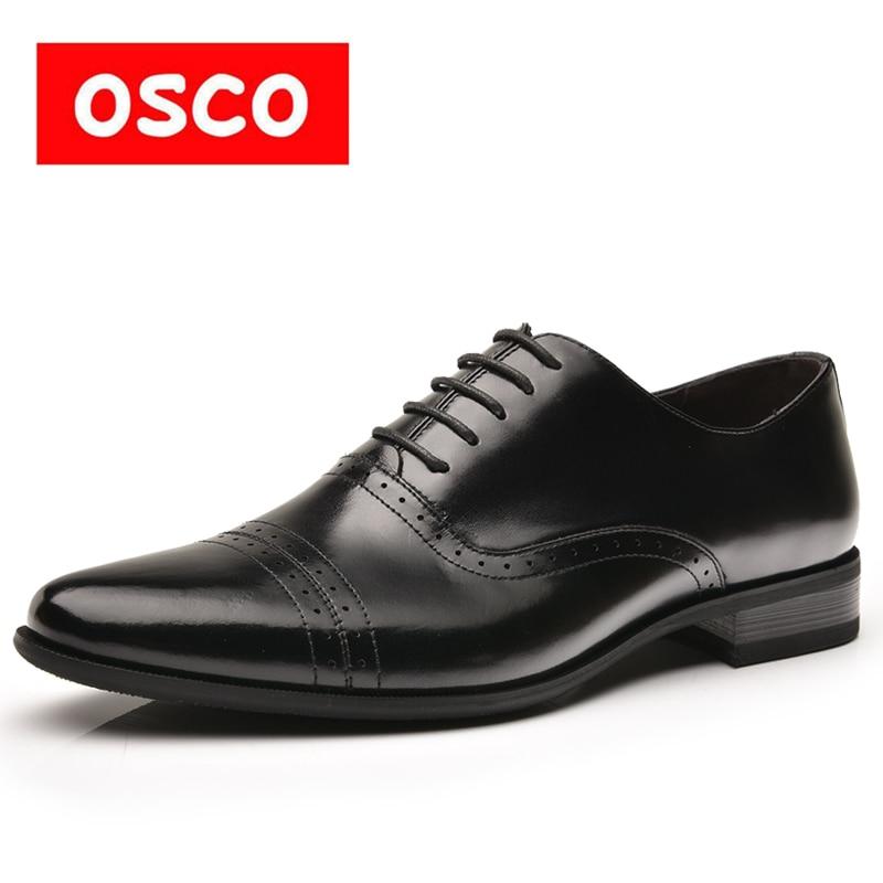 Hommes Entreprise Robe Casual Osco Tendances Cuir Oxfords En Travail Brocade Chaussures De Sculpté La Véritable Mariage Mode Bureau wr6XqP6xH0