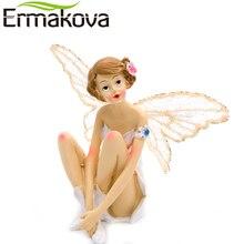 ERMAKOVA Resin Angel Ornaments Girl Sculputure Angel Figurine Angel Miniature Fairy Sculpture Decor Modern Statue Living