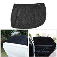 2Pcs Car Sun Shade UV Protection Adjustable Curtain Window Sunshade Side Mesh Visor Summer