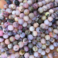 """Naturais Genuíno Peru Rosa Opal Rodada Solta 4-12mm Beads Fit Jóias Colares DIY ou Pulseiras 15 """"04079"""