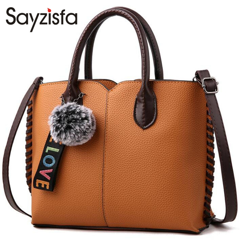 Sayzisfa 2017 Women leather handbags women bags messenger bags shoulder bag bolsas Ladies high quality handbag female pouch T526