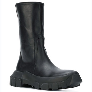 Мужские ботинки на толстой подошве, высокие ботинки из натуральной кожи на молнии, ручная работа, настоящая картина, панк стиль, ботинки-мар...