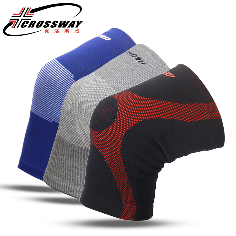 1 Pair Knee Support Protector Brand Fitness Running Cycling Braces Elastic Sport Gym Knee Warm Pads Sleeve Breathable Anti-Slip