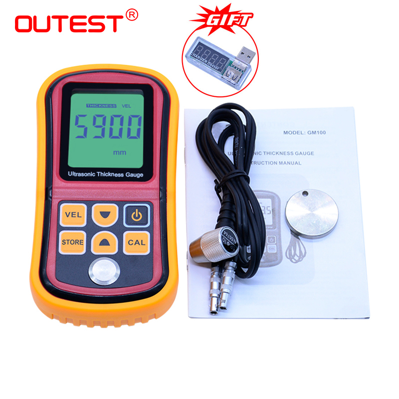 OUTEST Digital Thickness Gauge Tester Ultrasonic Thickness Gauge 1.2-220mm Metal thickness gauge Sound Velocity 1000-9999m/sOUTEST Digital Thickness Gauge Tester Ultrasonic Thickness Gauge 1.2-220mm Metal thickness gauge Sound Velocity 1000-9999m/s