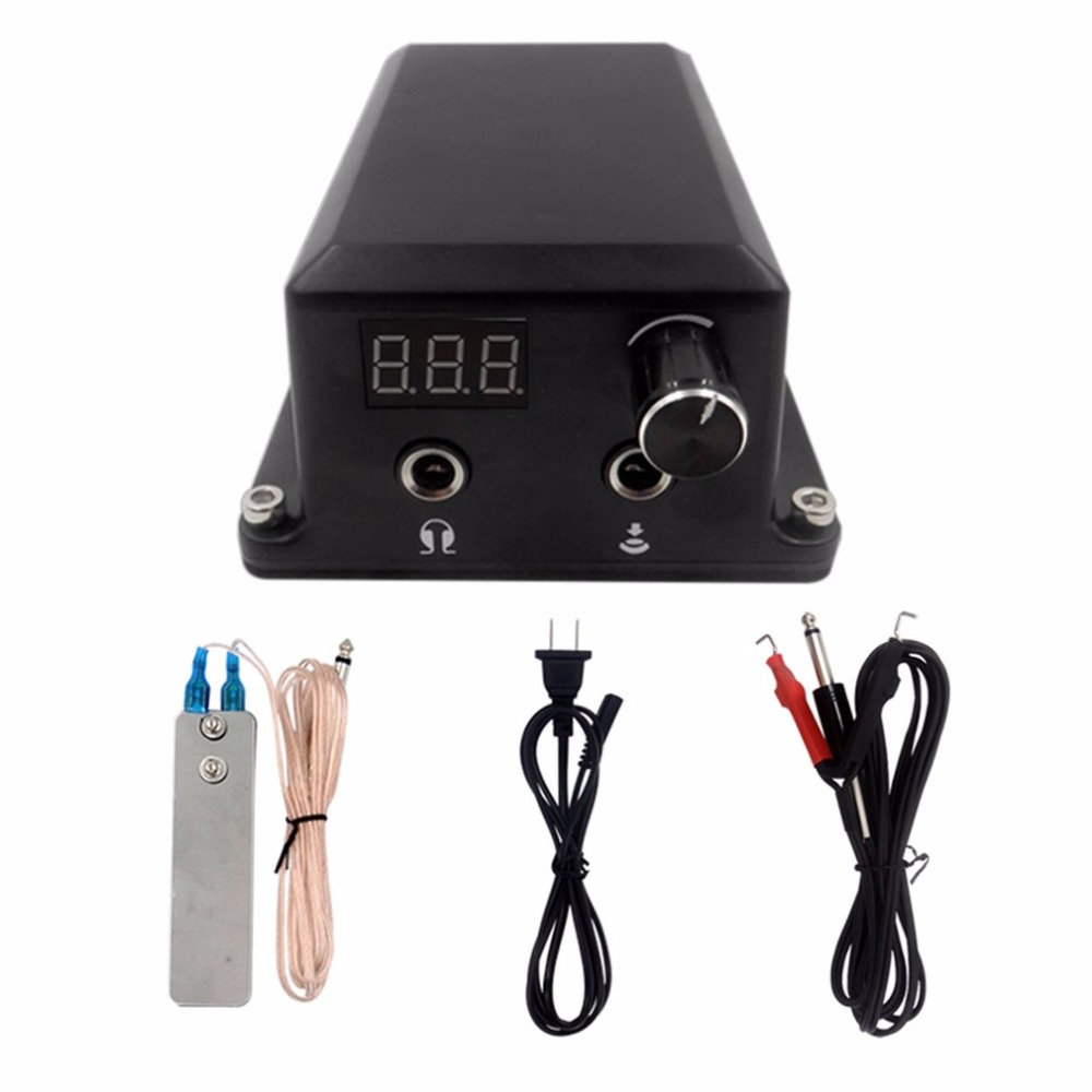 1 Set Professional Tattoo Power Supply Digital LCD Display Permanent Makeup Tattoo Machine Kits Power Supply Adjustable Voltage 35000r import permanent makeup machine best tattoo makeup eyebrow lips machine pen
