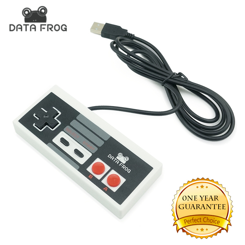 کنترلر داغ کلاسیک 2017 با گیمر USB بازی JoyStick Joypad For NES Windows PC for MAC Computer Game Game Controller Gamepad