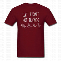 SUMMER EAT FRUIT NOT FRIENDS T SHIRT MEN WOMEN CACTUS TUMBLR VEGAN LOVE URBAN HIPSTER PLANTS