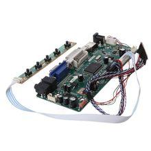 """Denetleyici kurulu LCD DVI VGA ses PC modülü sürücü DIY kiti 15.6 """"ekran B156XW02 1366X768 1ch 6/8  bit 40 Pin paneli"""