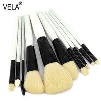 High Quality 10pcs Makeup Brushes Set Professional Artificial Goat Hair Makeup Tools Kit