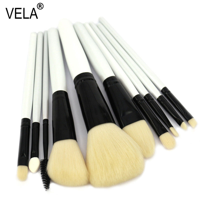High Quality 10pcs Makeup Brushes Set Professional  Makeup Tools Kit 147 pcs portable professional watch repair tool kit set solid hammer spring bar remover watchmaker tools watch adjustment