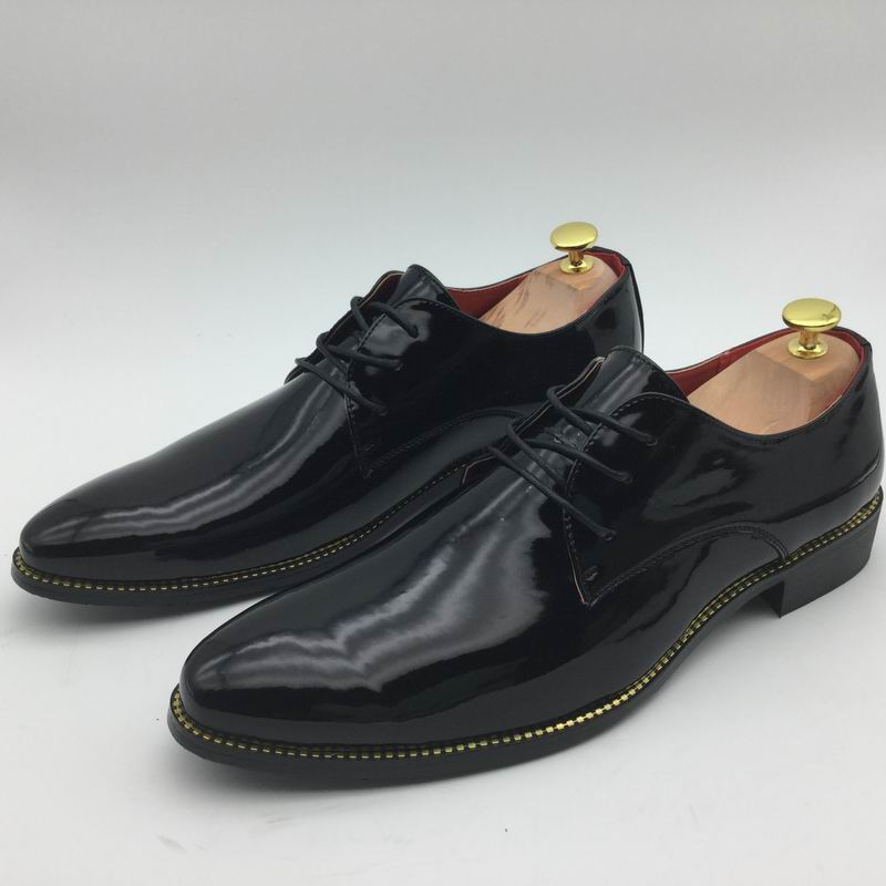 Black dress gold shoes in size