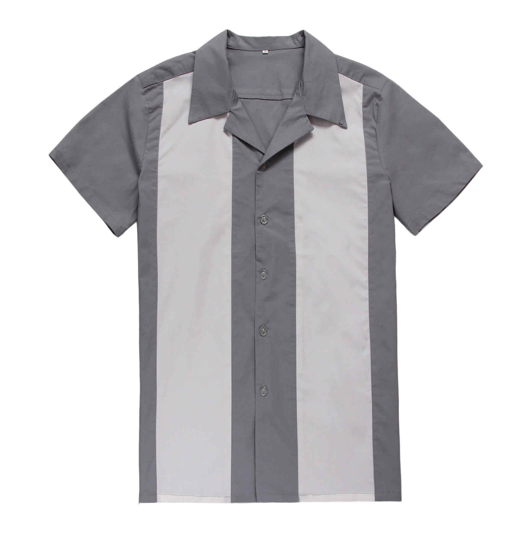 3feb0b8e1 CandowLook Online Shopping Men Cotton Short Sleeve Stylish American Vintage  Casual Designs Rockabilly Panel Shirts for