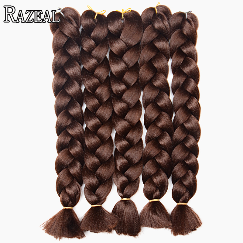 Razeal 8pcs 18 Pure Color 100g Synthetic Hair Extension Box