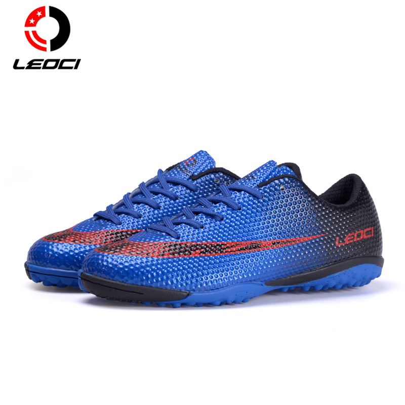 LEOCI Smooth  TF Soccer Boots Turf Football Shoes Football Cleats Unisex For Adult Kids Boys Size 33-44 maultby kid s boy children blue black ag sole outdoor cleats football boots shoes soccer cleats s31702b