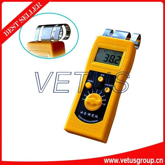 DM200W 0%-80% Wood Moisture Meter mc 7806 digital moisture analyzer price with pin type cotton paper building tobacco moisture meter