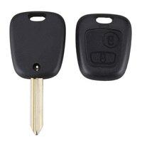 2 Buttons Black Uncut Blade Remote Car Key Refit Cover Case For Citroen Saxo Xsara Picasso Berlingo Car Key Shell Fob Case Cover