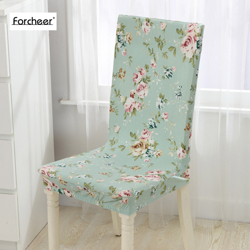1PC Floral Print Flower Pattern Elastic Multifunctional Spandex Dining Room Chair Cover For Modern Kitchen Table
