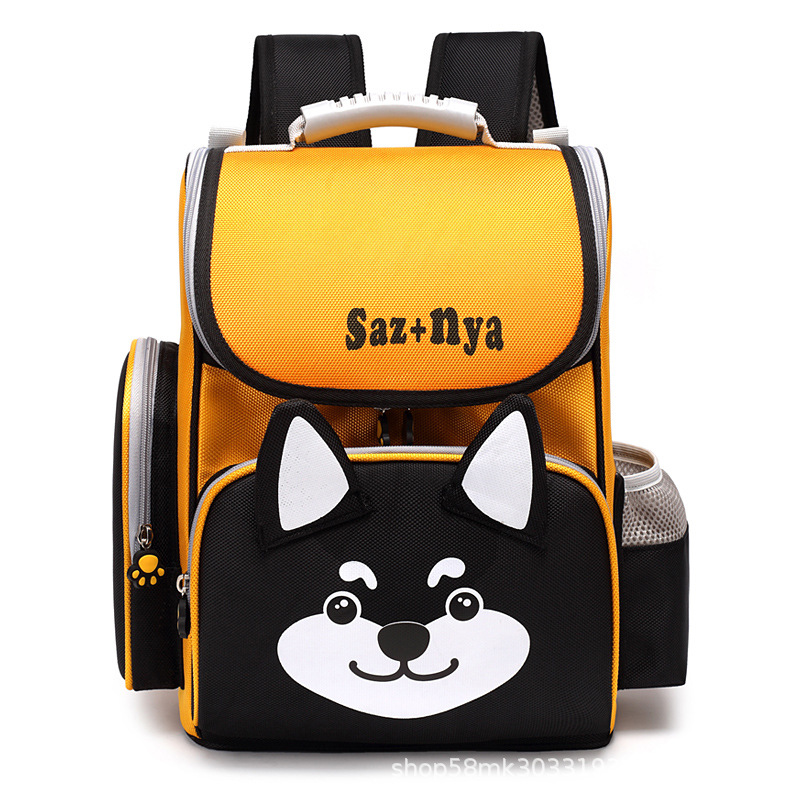 2019 Children school Backpack For Girl boys Gift Cartoon Pattern Orthopedic School Bag kids Waterproof Backpack Mochila Infantil(China)