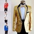 Paillette masculino mestre lantejoulas vestidos de trajes homens terno terno ternos e Blazer de acolhimento MC roupas cantor casaco outerwear