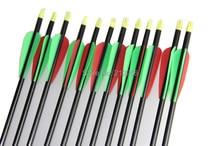 Longbowmaker 12PCS 32 Inches Fiberglass Target Practice Arrows F2GRT2