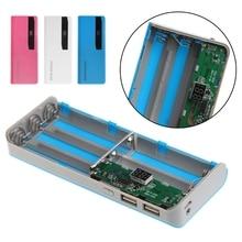 5x 18650 Battery Charger LCD Display DIY Power Bank Case Flashlight External Box No Battery