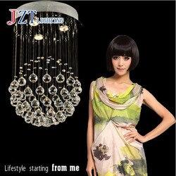 GETOP nowoczesny okrągła kula kryształowy żyrandol lampa sufitowa LED z 3 żarówki D40 X H80CM dla sypialnia salon i restauracja