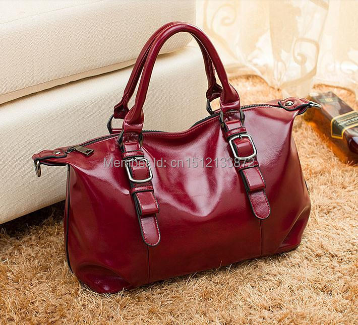 leather women's handbag wax cowhide fashion pleated one shoulder women's bags handbag cross-body bag магнит виниловый акварельный петербург зимний спас 9 7см