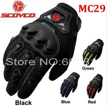 2016 New SCOYCO MC29 motorcycle riding gloves moto racing full finger glove breathable drop resistance 4 kinds of color M L XL