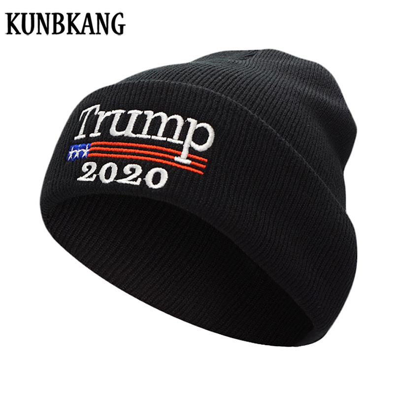 New Donald Trump 2020 Hat Men Winter Hats For Women Knit Beanie KEEP  ARMERICA GREAT Bonnet Winter Knitted Hats Skullies Beanies fa30a5523ac