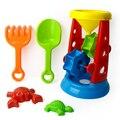 5 unids niños divertidos play set juguetes de reloj de arena herramientas arena agua Niños playa Playa Cubo Pala Rastrillo Kit Edificio Mar Moldes TY0137