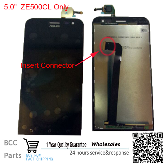 ФОТО Original Insert Connector LCD Display Digitizer+Touch Screen Assembly Parts for Asus  Zenfone 2 ZE500CL 100% Tested Before Ship