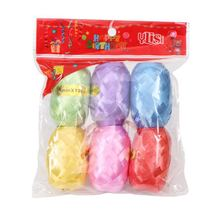 Emerra 6pCS 10mx5mm Wedding Party Festival Decoration Plain bagged Rugby ribbon Tied balloon