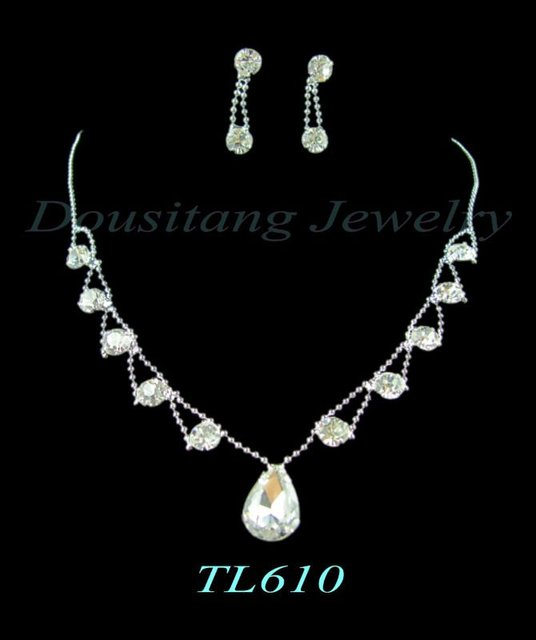 Free Shipping Rhinestone Crystal Elegant Jewelry Sets for Wedding Party Pageant Factory Wholesale and Retail