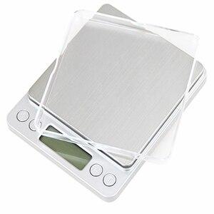 Image 3 - 500g x 0.01g wysoka dokładność przenośna waga Mini elektroniczna waga cyfrowa kieszonkowa biżuteria kuchenna waga maszyna do ważenia
